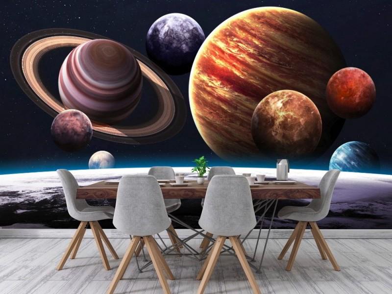 Fototapet planeter i solsystemet