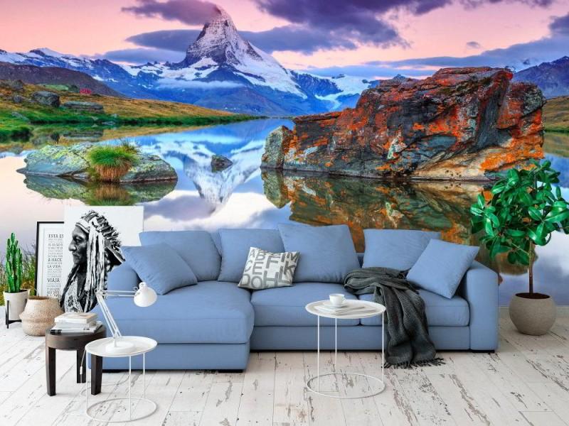 Fototapet Matterhorn på morgonen