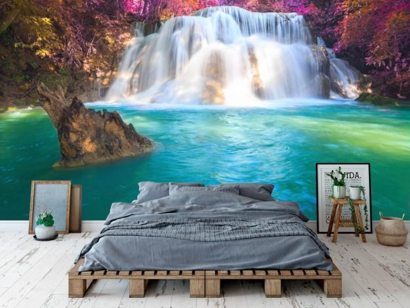 Fototapet Waterfalls In Kanchanaburi