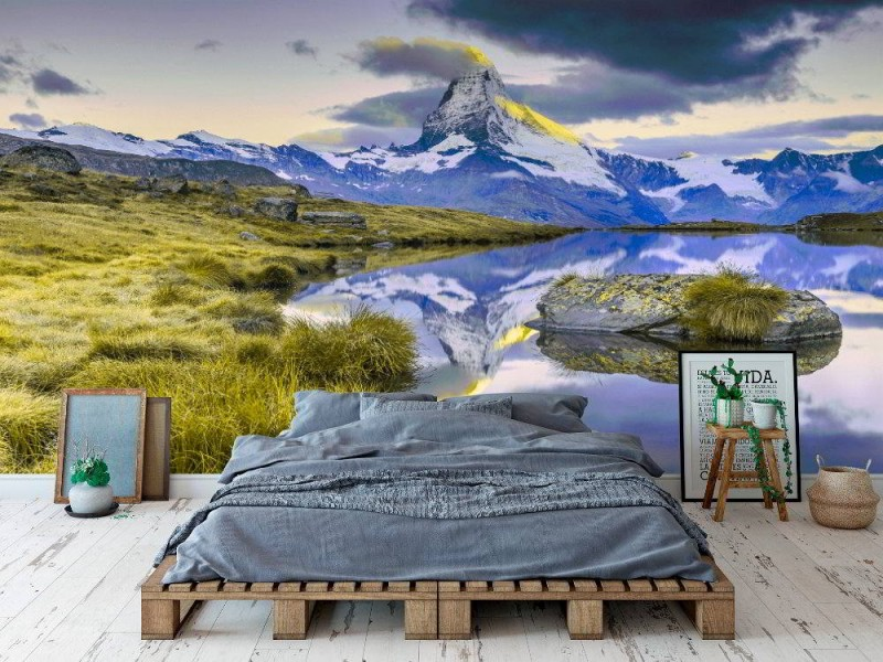 Fototapet Matterhorn på morgonsoluppgång