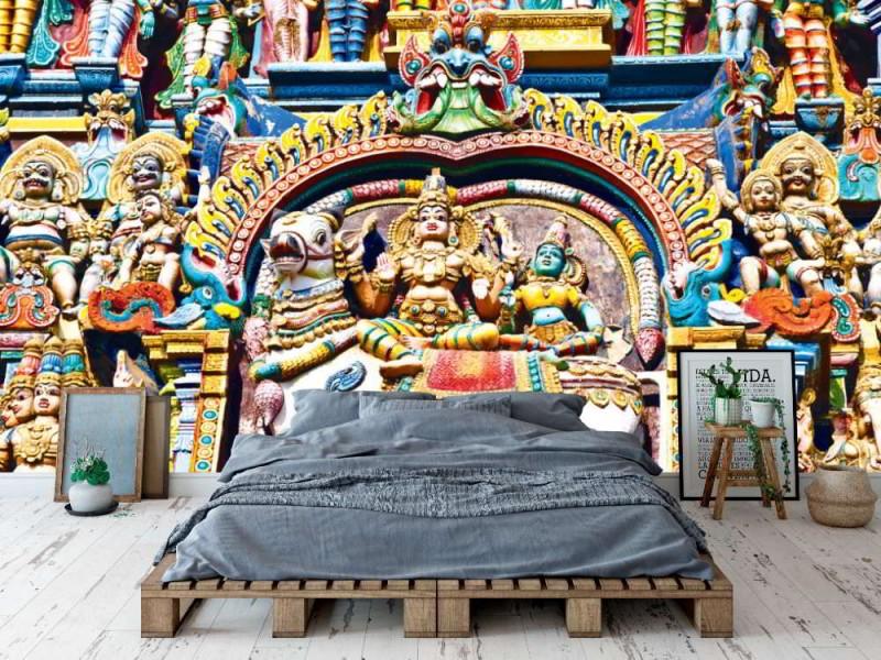 Fototapet relief of Menakshi tempel (Tamil Nadu, India)