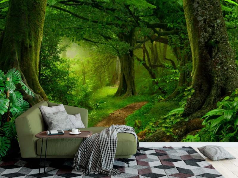 Fototapet Deep Tropical Jungles
