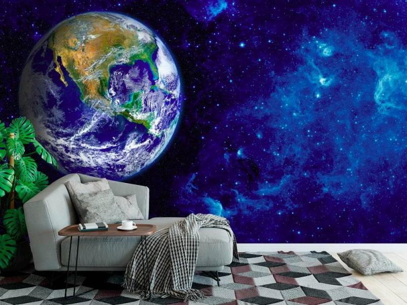 Fototapeter sikt av jorden från månen.