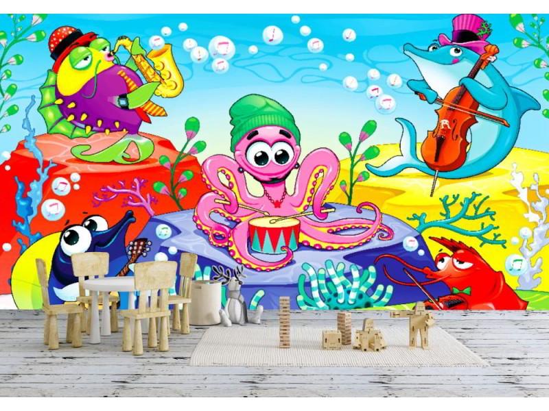 Fototapet orkester i havet