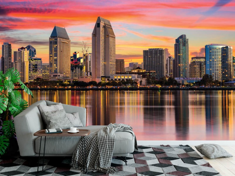 Fototapet San Diego centrum skyline (62625228)