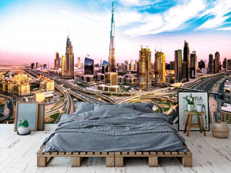 Fototapet Dubai silhuetter
