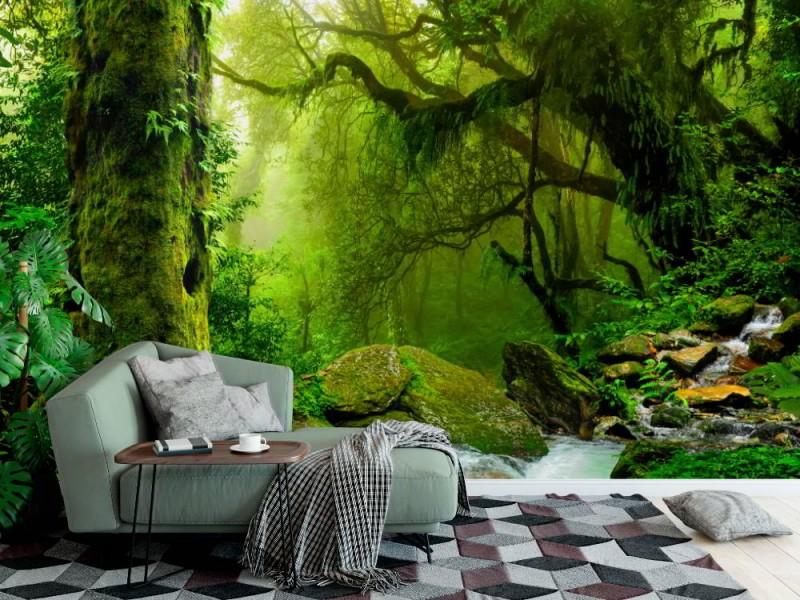 Fototapet Nepal djungel