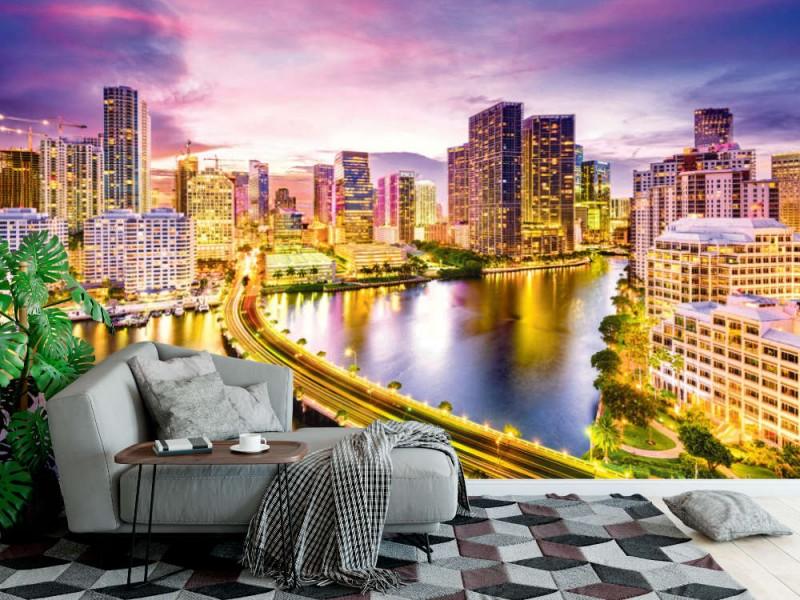 Fototapet skyline on Biscayne Bay (Miami)