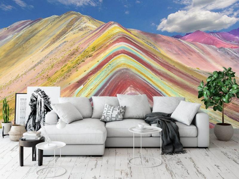 Fototapet Rainbow Mountains In Peru
