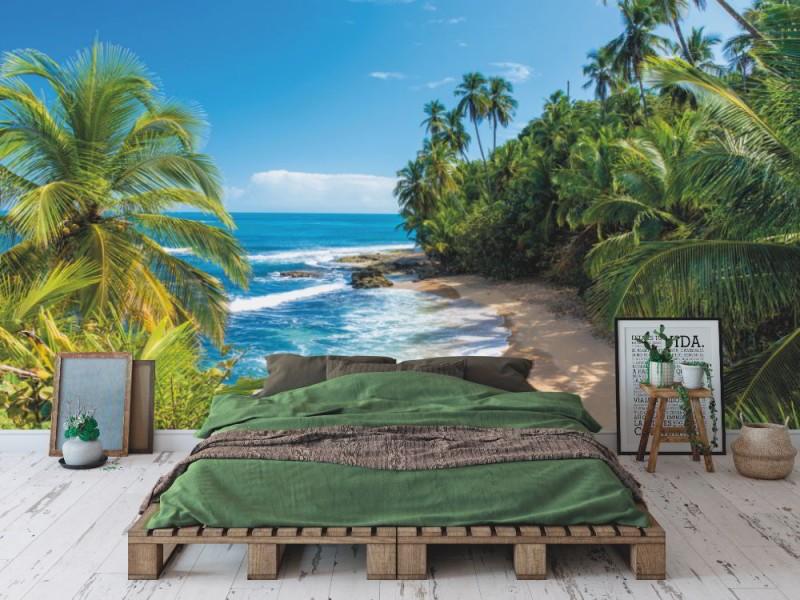 Fototapet vild karibisk strand