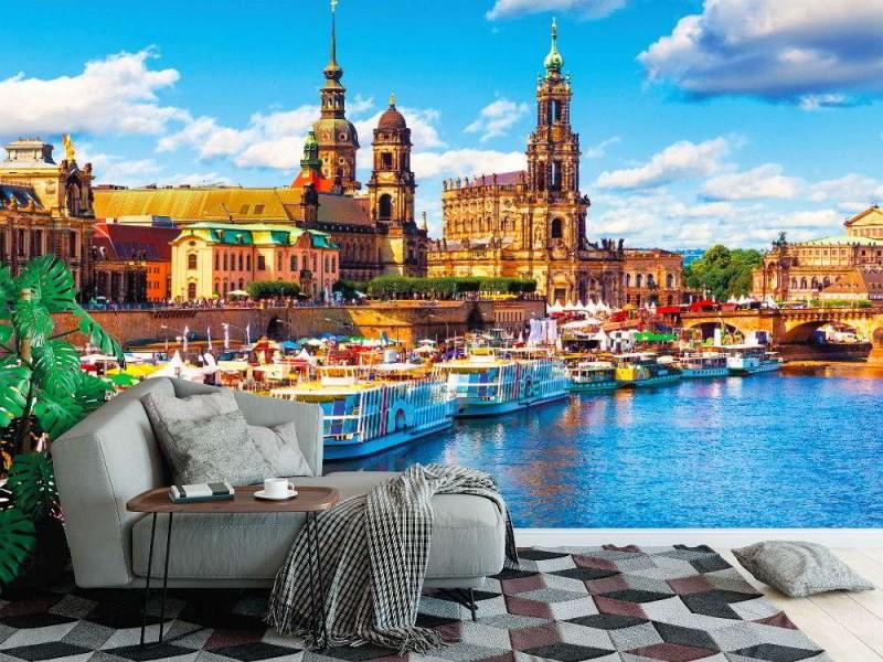 Fototapet gammal stad i Dresden