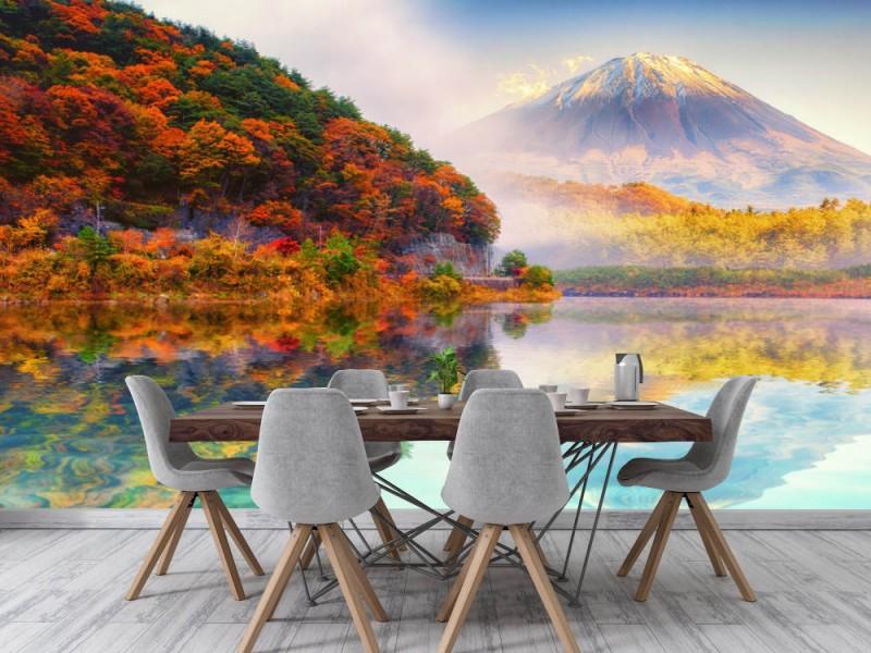 Fototapet Fuji Mount In Autumn