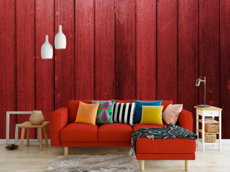 Fototapet Dark Red Wood Wall
