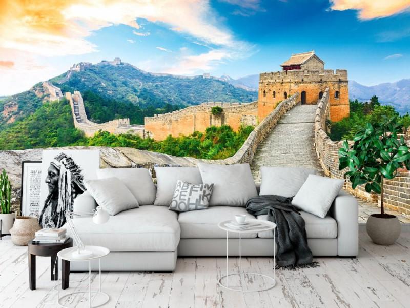 Fototapet kinesiska muren (93067546)