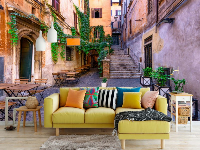 Fototapet Street In Rome