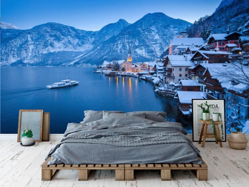 Fototapet Hallstatt In Winter