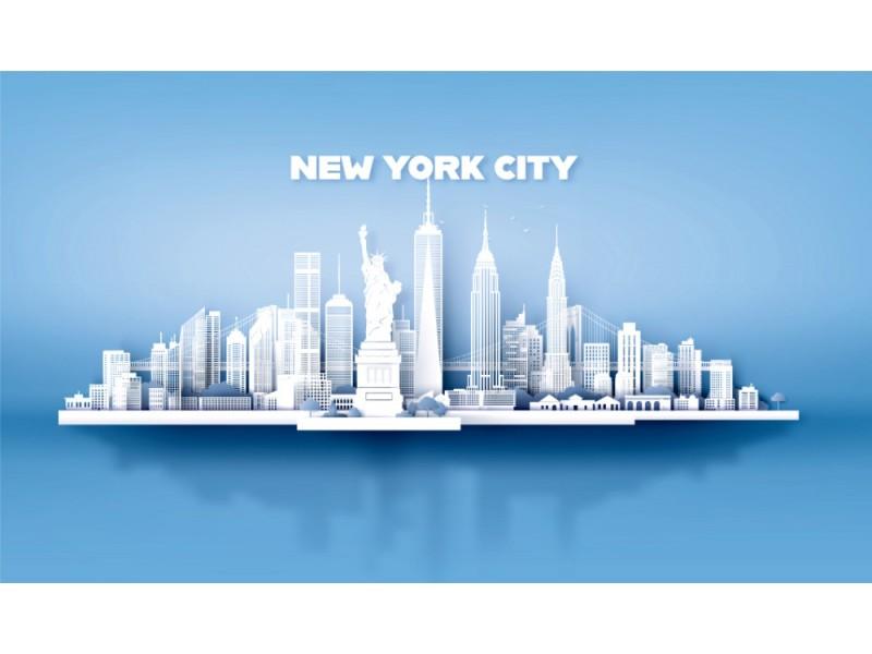 Fototapet New York City skyskrapor
