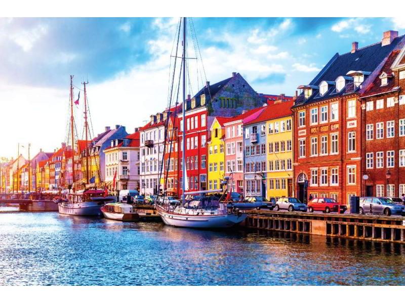 Fototapet Nyan pir i Köpenhamn