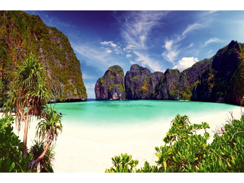 Fototapet Phi-Phi ö i Thailand.