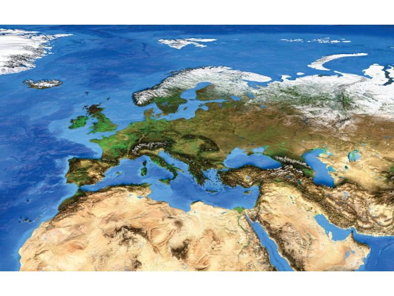 Fototapet satellitvy av jorden