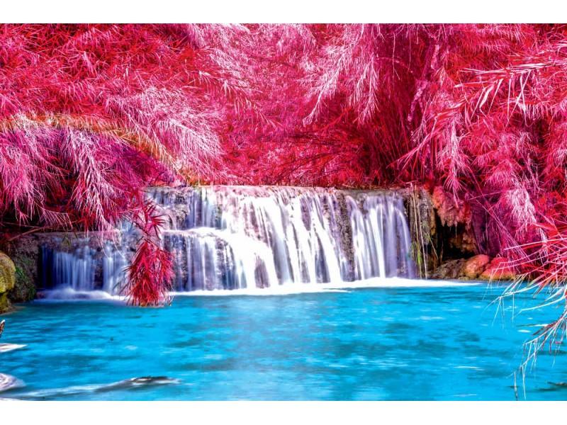 Fototapet Tat Kuang Si vattenfall i Laos