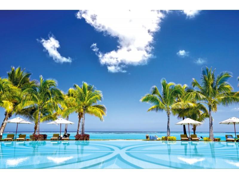 Fototapet Tropisk badort i Mauritius