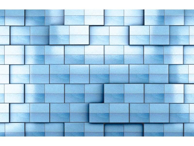 Fototapet blå kakelvägg (18586368)