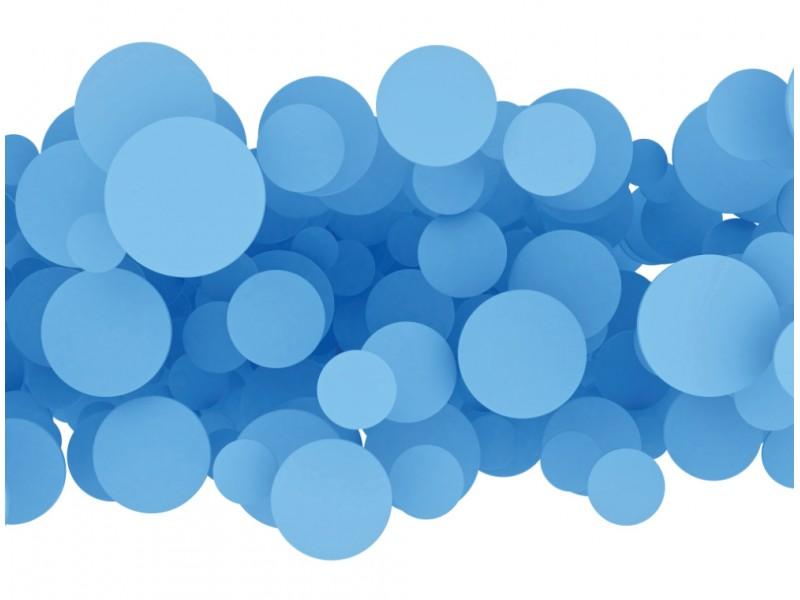 Väggdekor abstrakta 3d blå design cirklar (24109180)