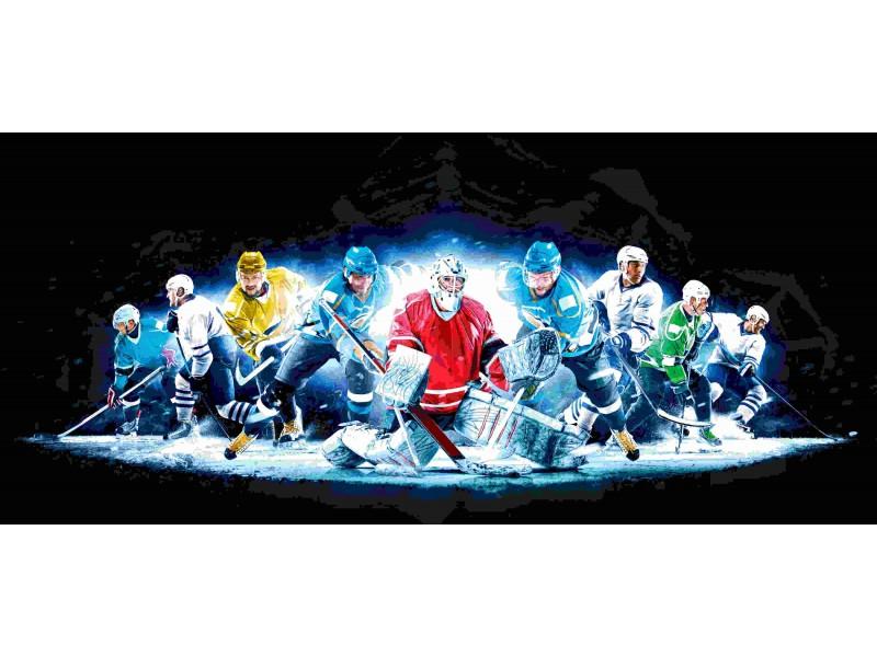 Fototapet grand ishockeykollage (123380763)