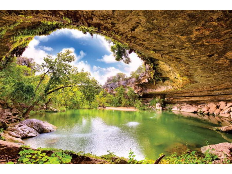 Fototapet Hamilton pool i Texas
