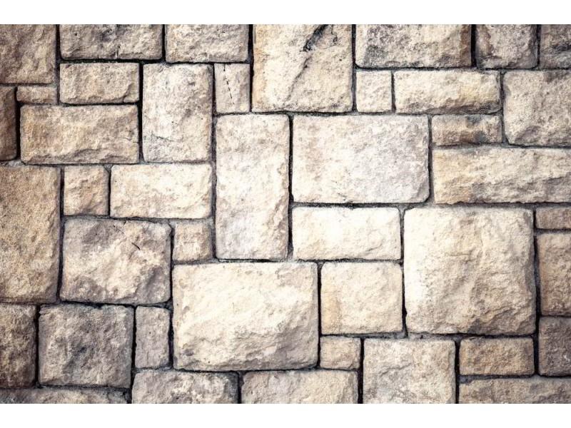 Fototapet gammal brun stenvägg