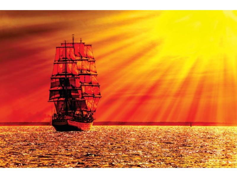 Fototapet segelfartyg