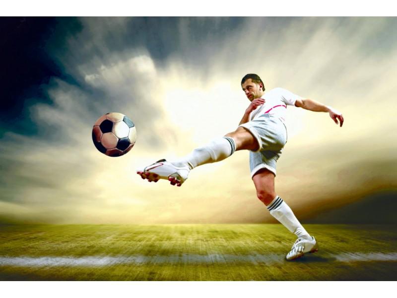 Fototapet skjut av fotbollsspelare (10344569)