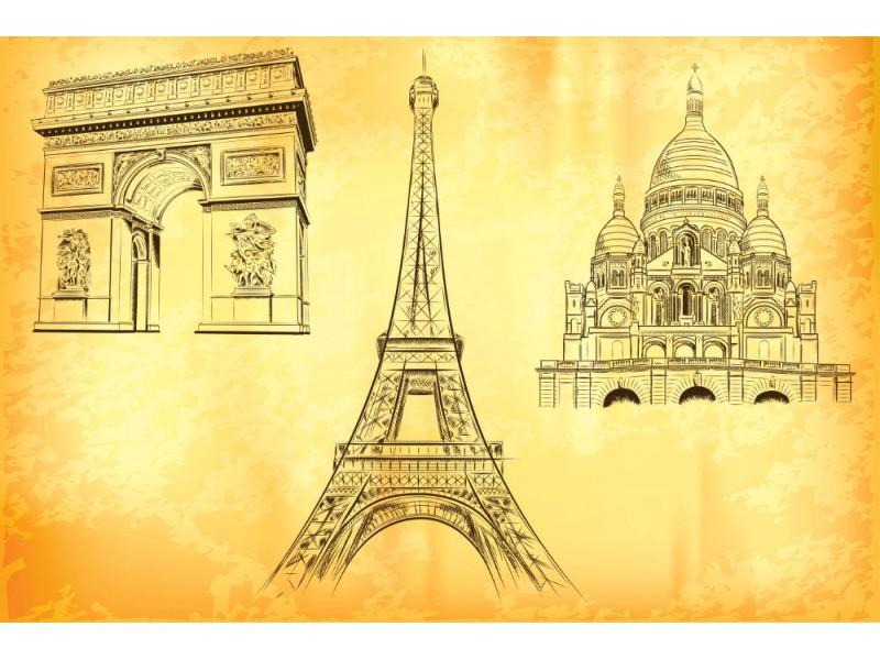 Fototapet Paris symboler (12308477)