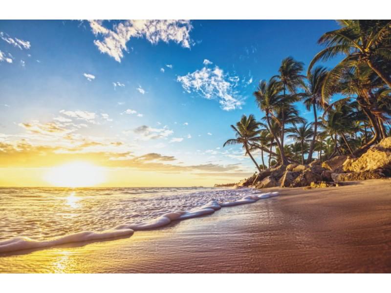 Fototapet tropisk ö paradisstrand
