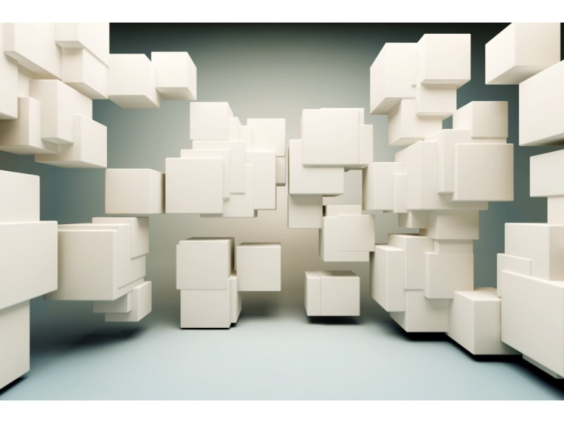 Fototapet abstrakta geometriska former av kuberna (13275702)