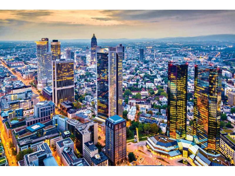 Fototapet flygfoto över Frankfurt (25233286)