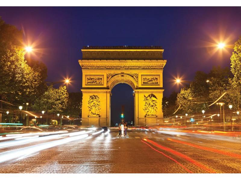 Fototapeten triumfbåge i paris (14480836)