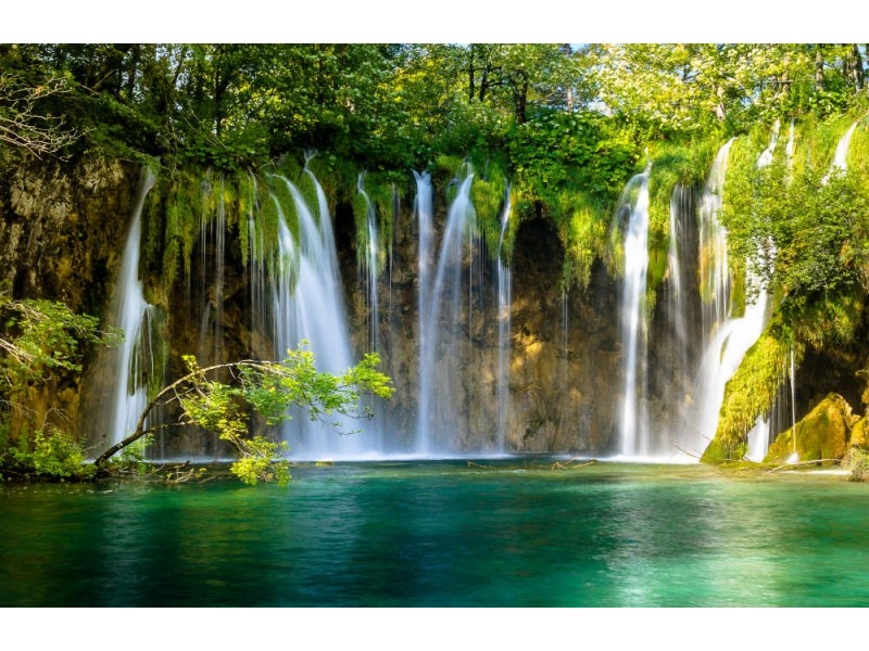 Fototapet Beautiful Waterfall In Plitvice