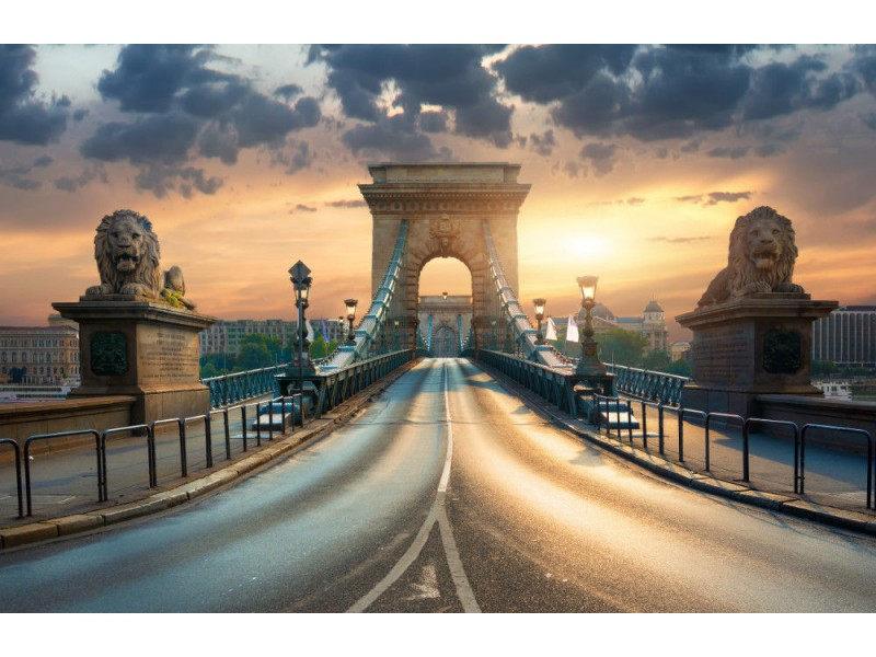 Fototapet Bridge In Budapest