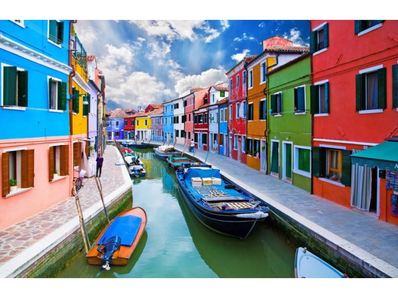 Fototapet Burano Island Canal