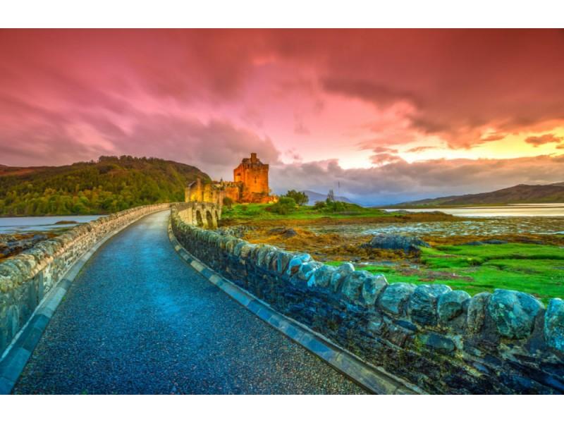 Fototapet Eilean Donan Scotland