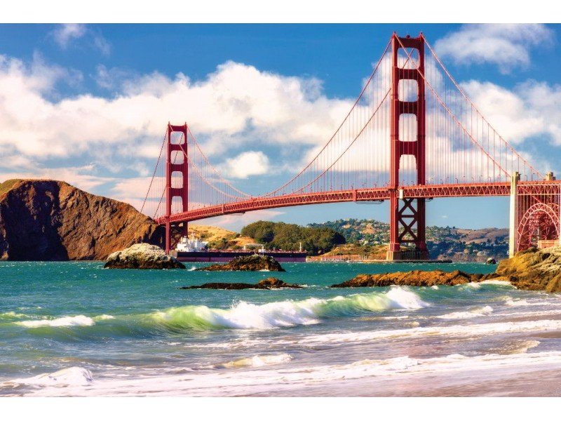 Fototapet Golden Gate Bridge i san Francisco vid solnedgången (66146895)
