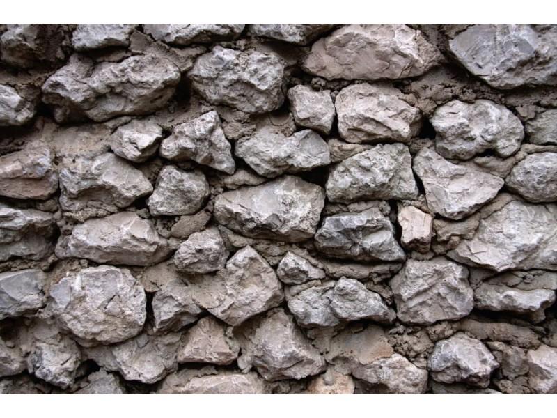 Fototapet grå stenmur (76867209)