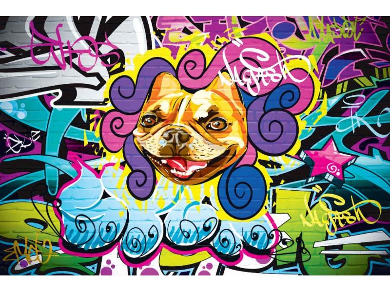 Fototapet grunge hiphop graffiti-vägg (15654645)