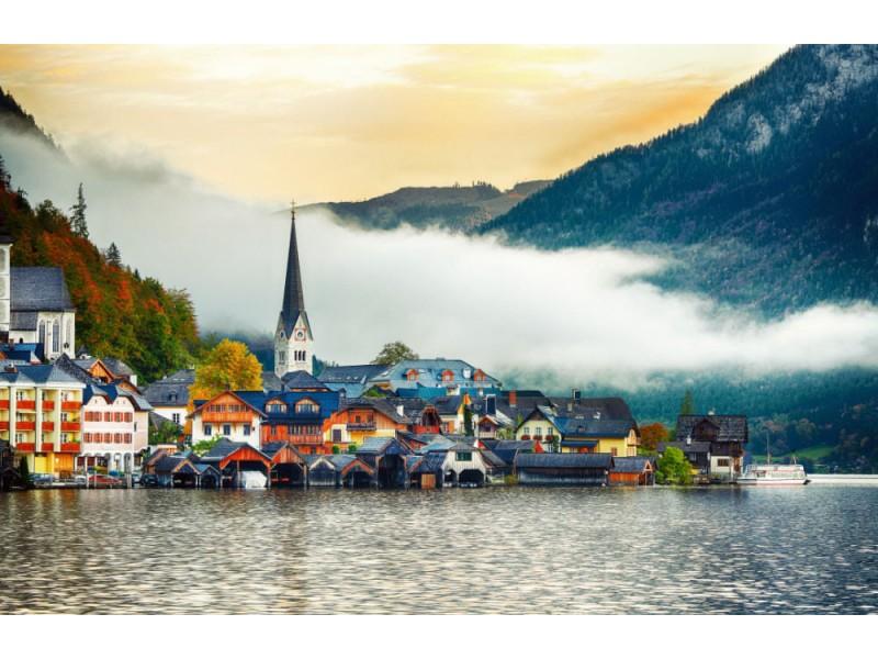 Fototapet Hallstatt Mountain Village