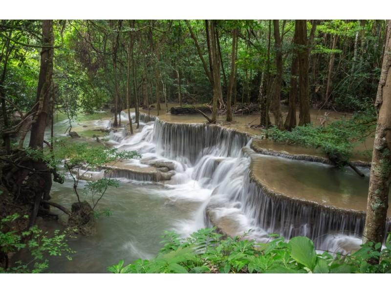 Fototapet Huai Mae Khamin Waterfall