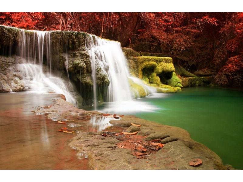 Fototapet Huay Mae Khamin Waterfall