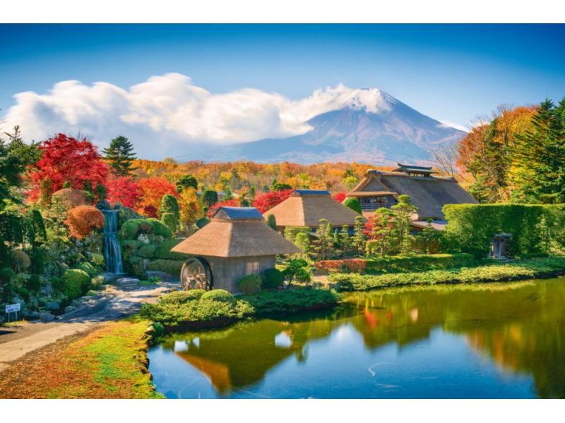 Fototapet japanska historiska hus med halmtak (62625511)