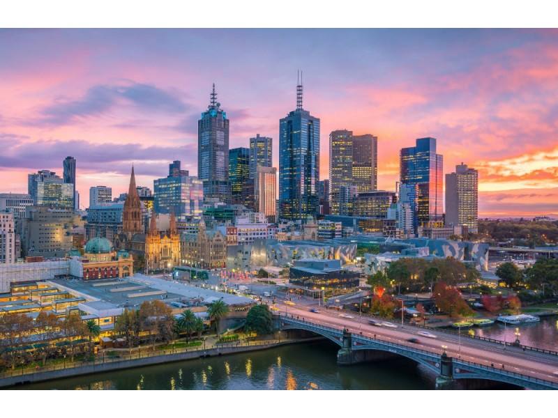 Fototapet Melbourne City Skyline